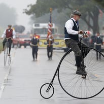 The Town of Byron celebrated the 100th anniversary of the Yellowstone Trail in Wisconsin with a centennial parade on Saturday, Aug. 29. The parade commemorated the 1915 completion of the Yellowstone Trail route along Highway 175 in the Town of Byron. Saturday August 29, 2015.