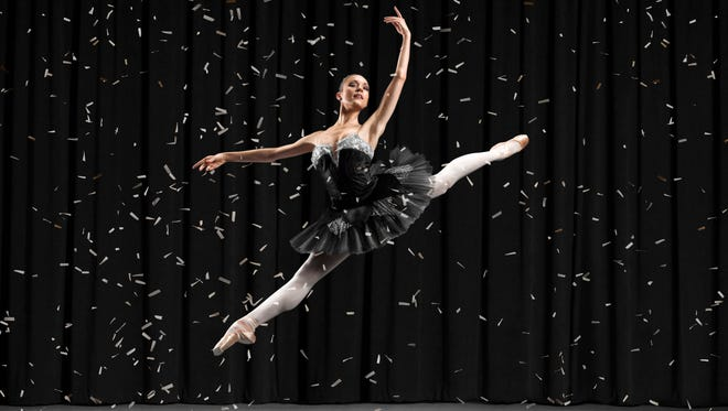 National Bank of Arizona's Super Bowl ad features five companies, including Ballet Arizona.  Jessica Phillips is shown.
