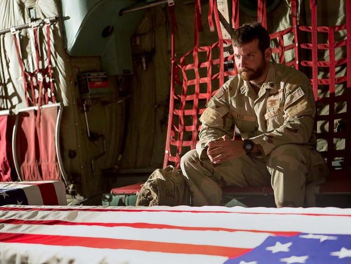 Bradley Cooper stars in American Sniper.