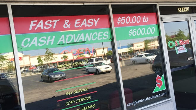 Fast cash ranging from $50 to $600 is available for high fees at area payday lenders.