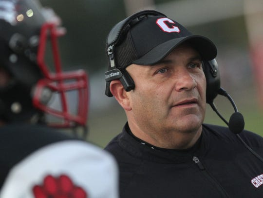 Crestview head football coach Dan Mager