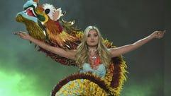 Elsa Hosk walks the runway at the Victoria's Secret