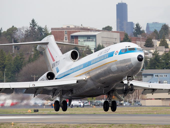 The world's first Boeing 727, which first flew in 1963,