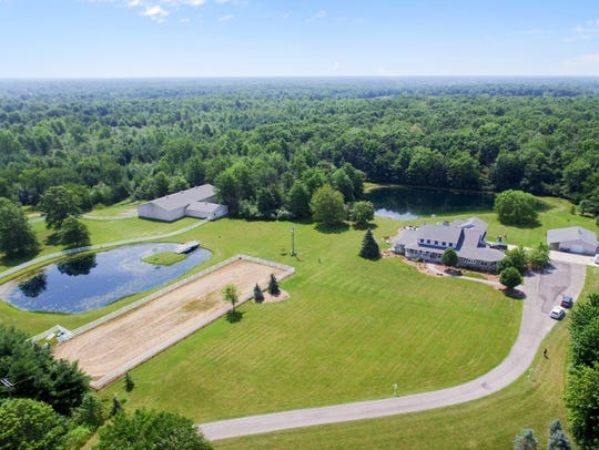 An aerial photo shows the property in Cottrellville