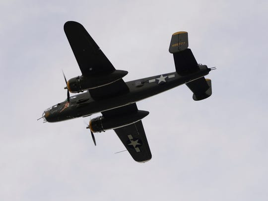 Genoa's sesquicentennial celebration included a flyover by World War II bombers.