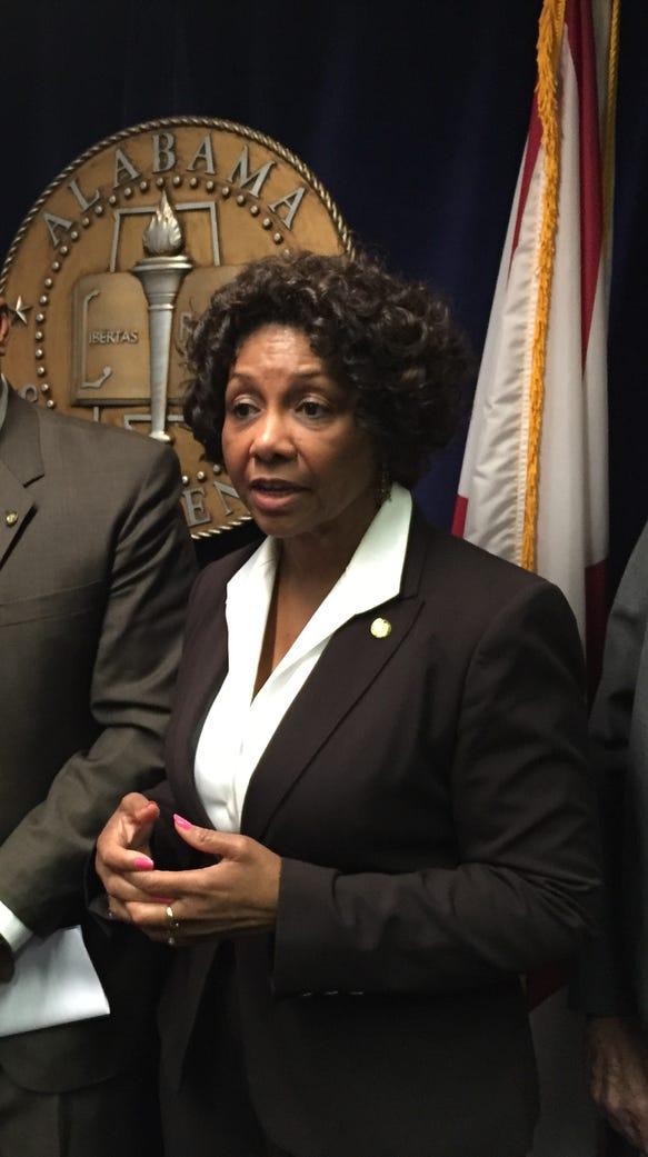 Sen. Linda Coleman, D-Birmingham, discusses a resolution