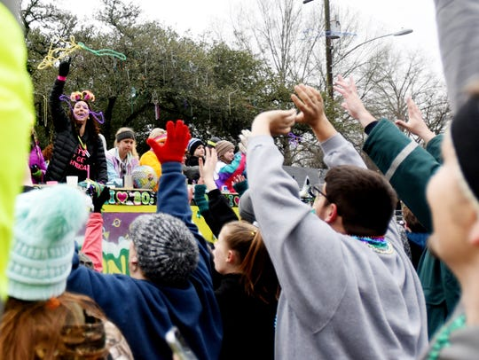 The Krewe of Highland Parade Sunday afternoon.