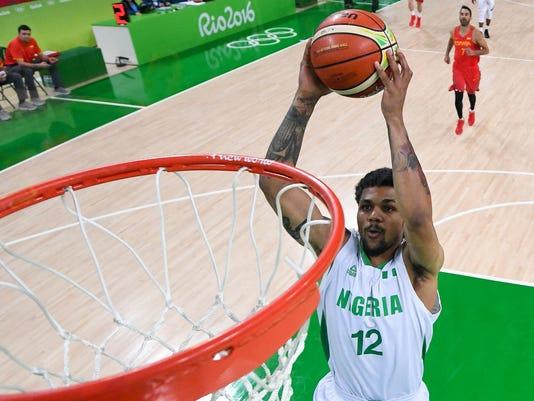 Olympics: Basketball-Men's Team-Preliminary NIG vs ESP