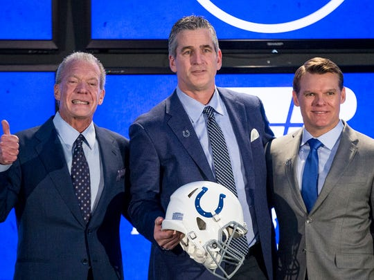 From left, Indianapolis Colts owner and CEO Jim Irsay,