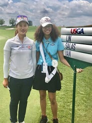 LPGA golfer Xiyu Lin with Victoria Wilson of Chatham