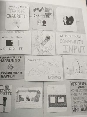Posters advertised the 1970 York Charrette.
