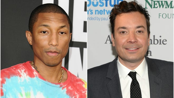 Pharrell Williams and Jimmy Fallon battled it out on Monday night's 'The Tonight Show.'
