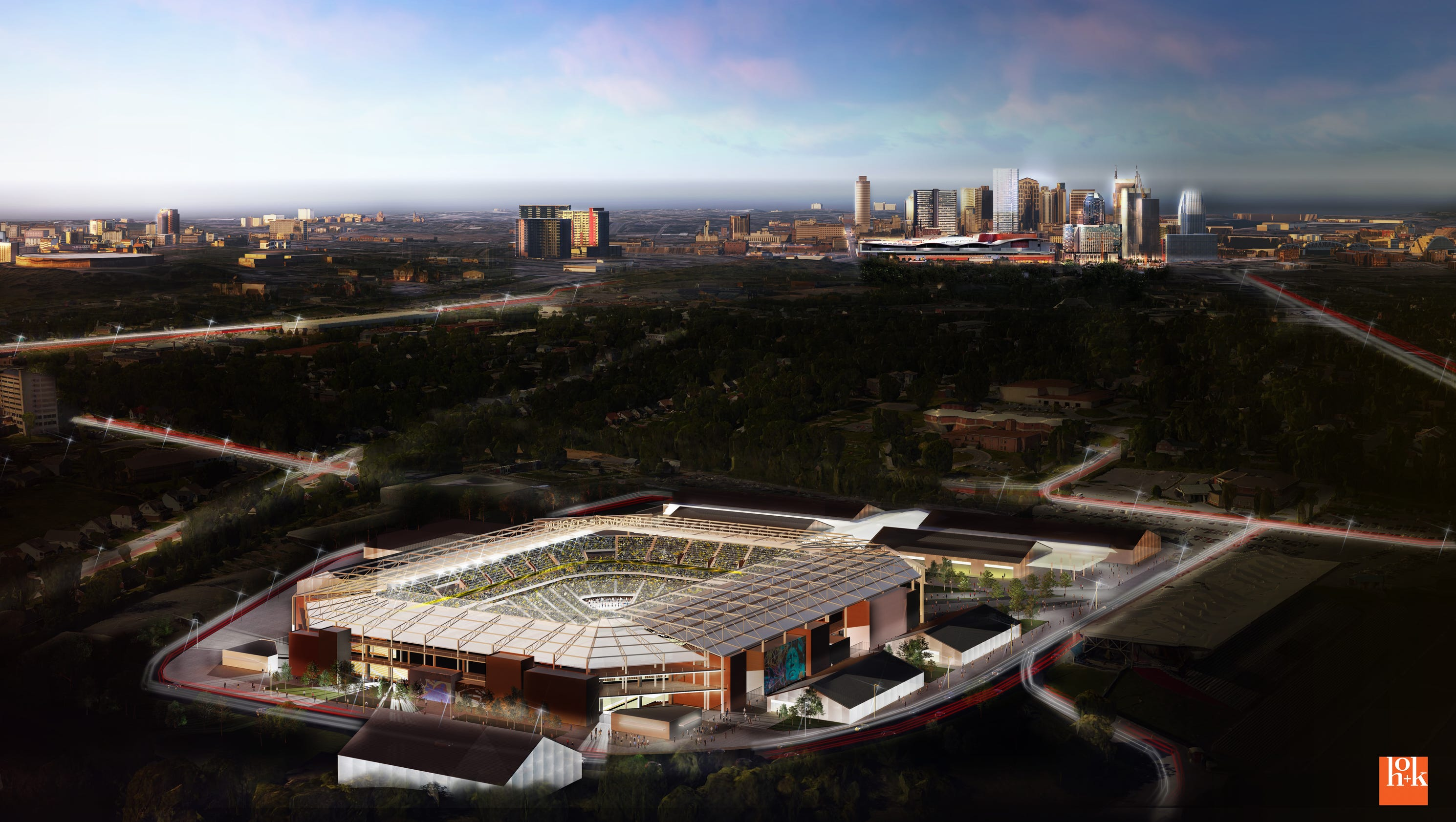 Nashville MLS group unveils first look at stadium proposed ...