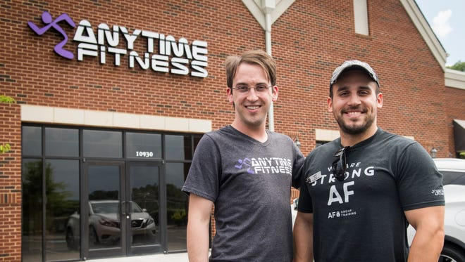 Brothers Jonathan Ward, left, and Matt Sigmon are opening an Anytime Fitness location together at 10926 Spring Bluff Way in Hardin Valley.
