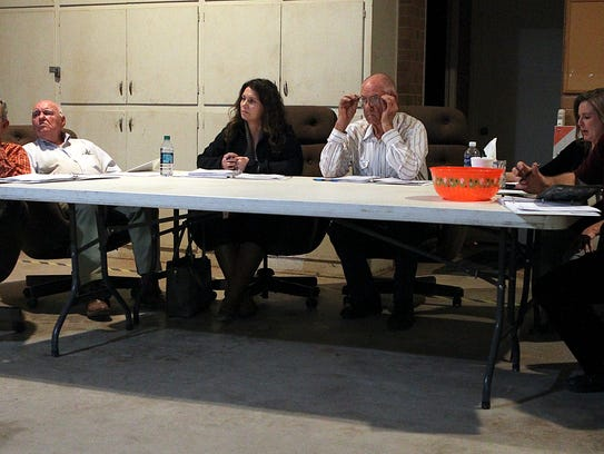 Bronte City Council members listen to residents talk