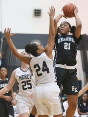 Saniaa Wilson, right, was a sixth-team Class AA all-state pick last season for Bishop Kearney.