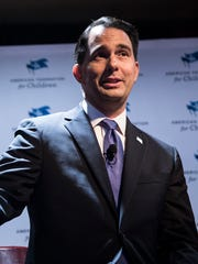 Wisconsin Gov. Scott Walker speaks at the Republican