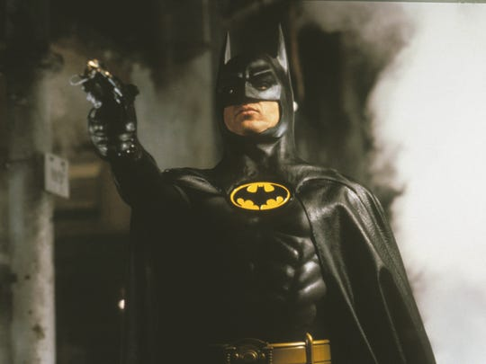 "Michael Keaton (seen here in Tim Burton's 1989 ""Batman"" film) was one of six actors so far to play the Caped Crusader on the big screen."