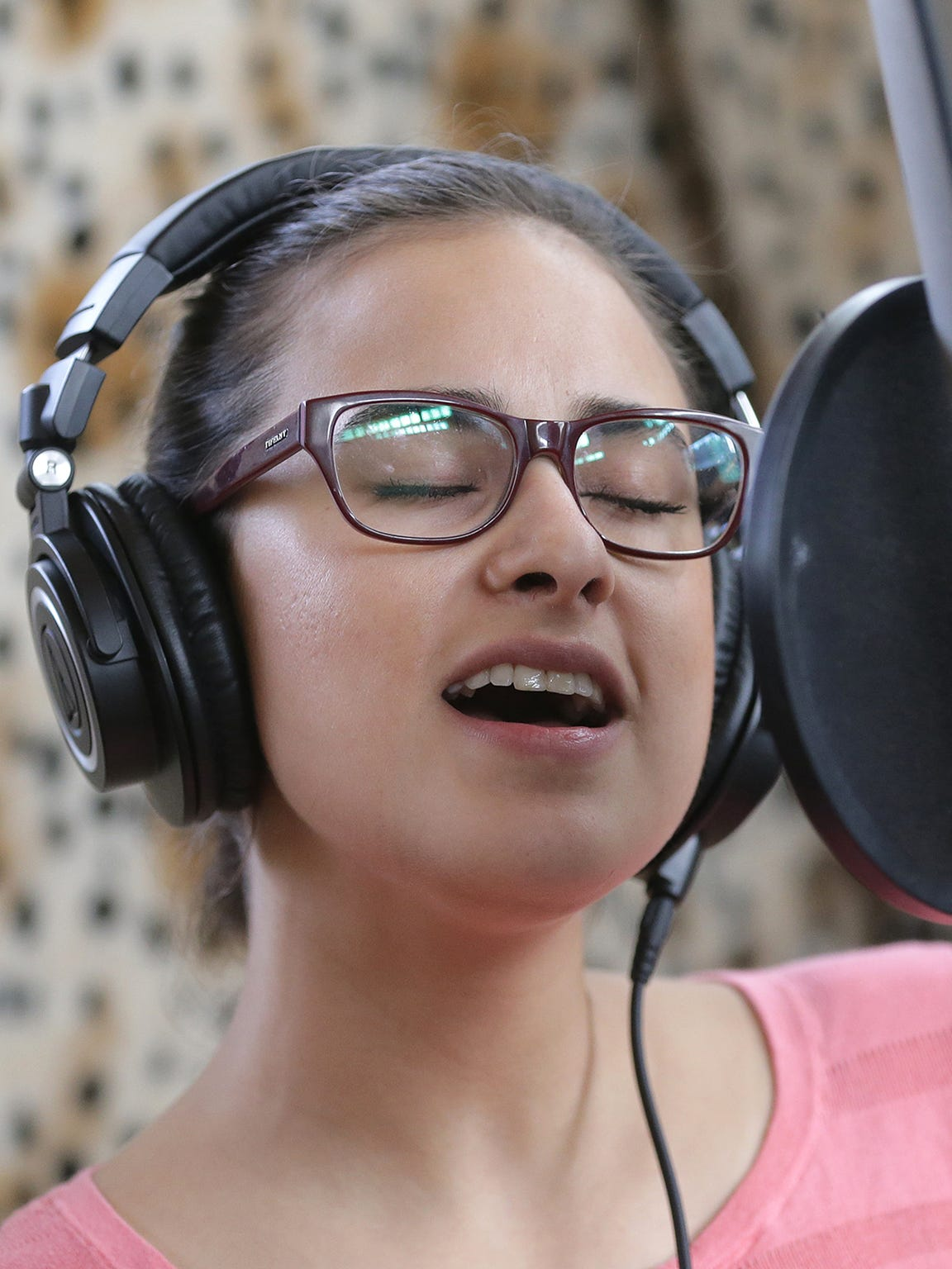 The Chamanas singer Paulina Reza belts out some vocals
