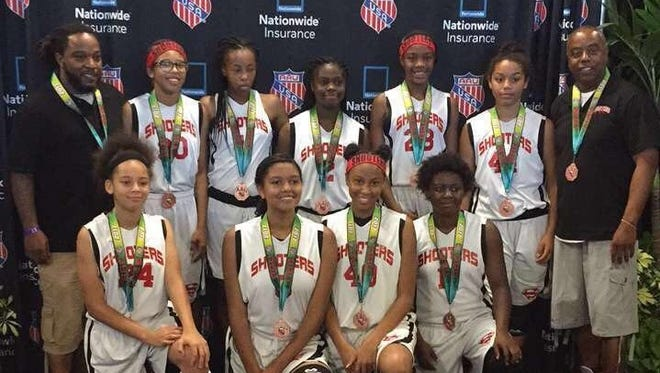 The Lady Shooters AAU Middle School Girls team finished fourth at Nationals.