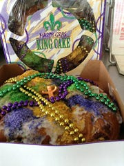A king cake from A Stone's Throw Cafe.