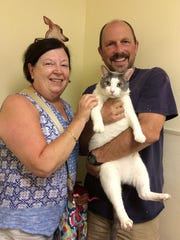 Melvin, a cat, was adopted as part of the Clear the