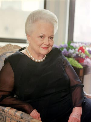 Lawyers for Olivia de Havilland, seen here in 1998, say she wasn't consulted by FX before having someone play her in the limited series 'Feud.'