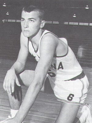 Louie Dampier, shown in his Indiana All-Star uniform in 1963, went on to an acclaimed career in the ABA with the Kentucky Colonels.