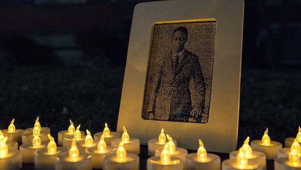 A vigil for Matthew Williams outside of the Wicomico