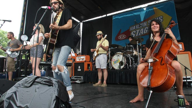 Those were the days: River City Extension on stage at the 2011 Vans Warped Tour at Monmouth Park in Oceanport.