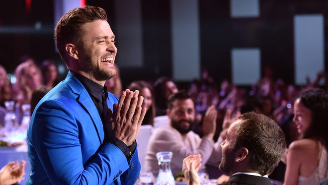 Justin Timberlake attends the 2015 iHeartRadio Music Awards at The Shrine Auditorium on March 29, 2015 in Los Angeles.