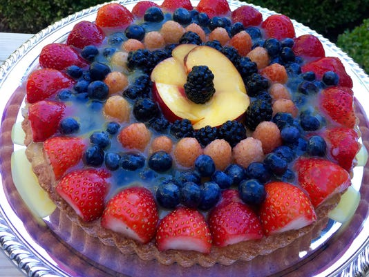 Fruit Tortenboden with Pineapple Glaze