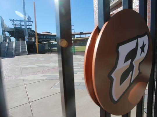 Southwest University Park sits idle Tuesday.