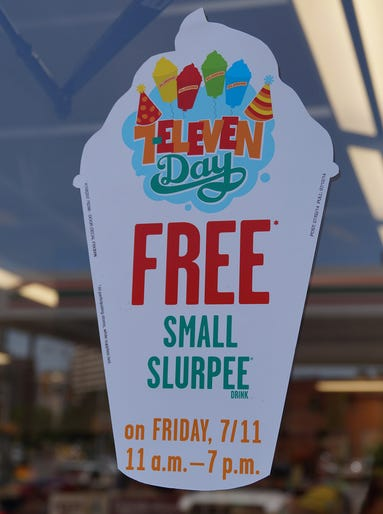 To celebrate its 87th anniversary, 7-Eleven is giving away free small Slurpees on July 11 from 11 a.m. to 7 p.m.