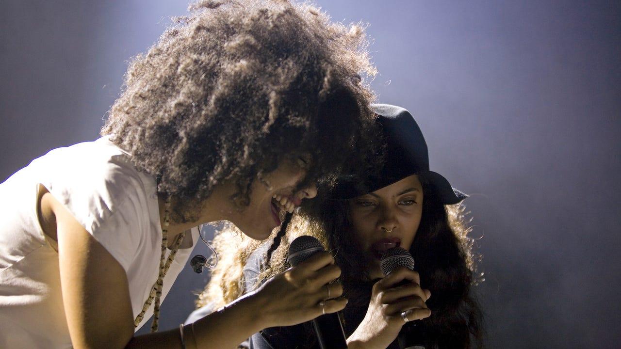 Ibeyi are French Cuban twins, Lisa-Kainde and Naomi