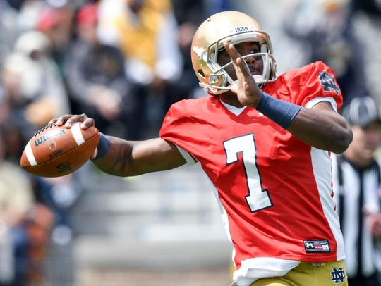 Notre Dame's new starting QB, Brandon Wimbush, interned