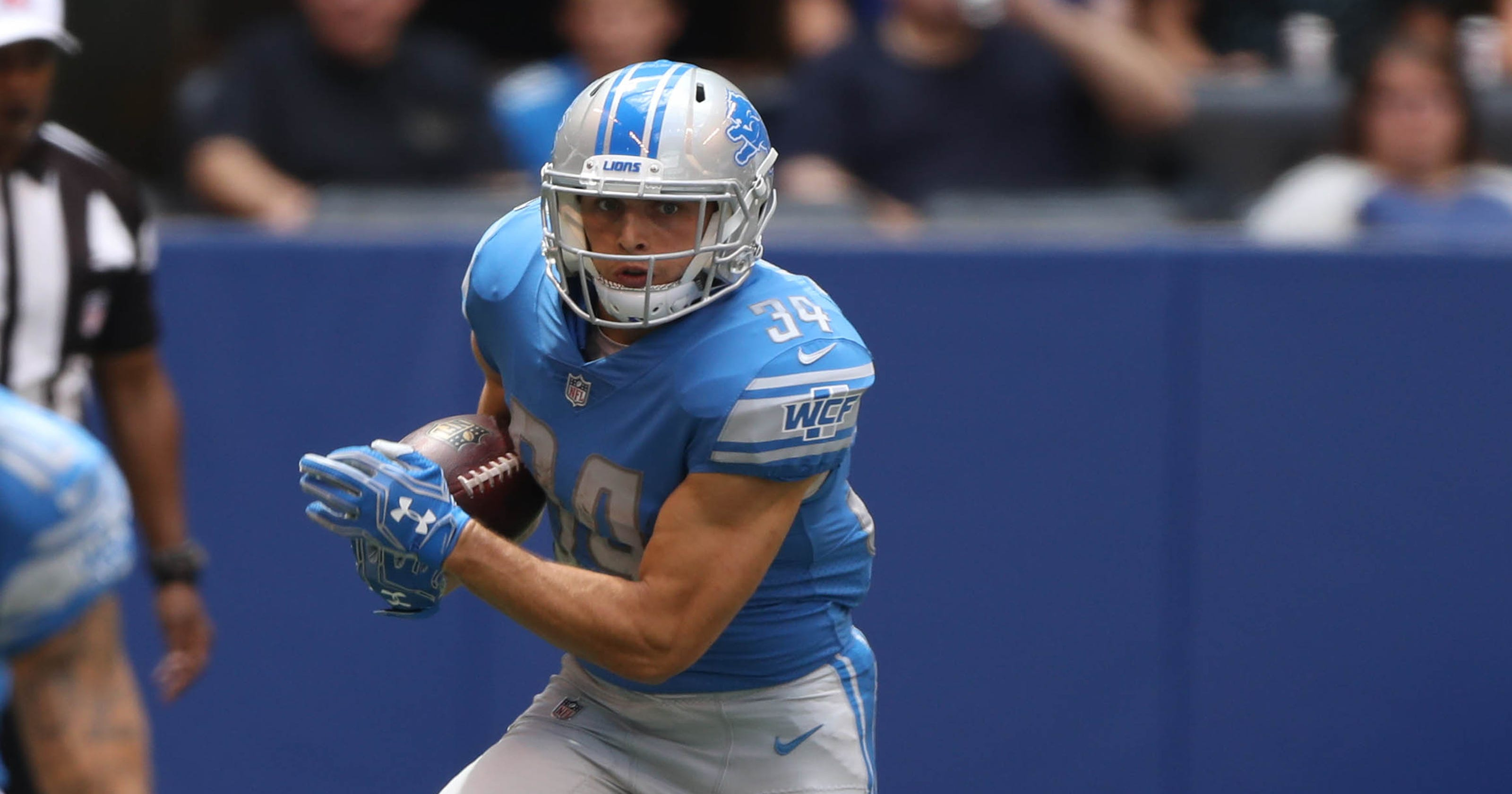 promo code b3bf4 bb7ab Why can't Zach Zenner get on the field for the Detroit Lions?