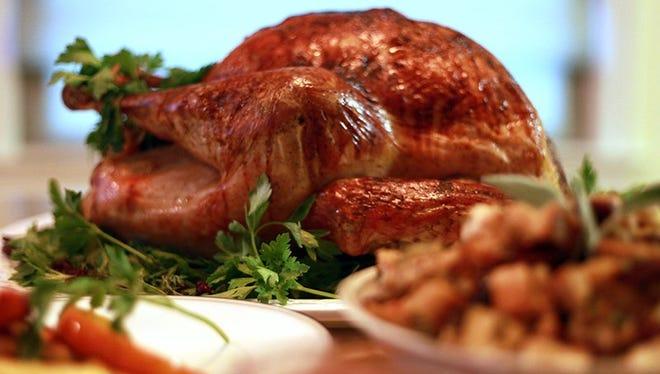 A classic roasted turkey with a cherry glaze.