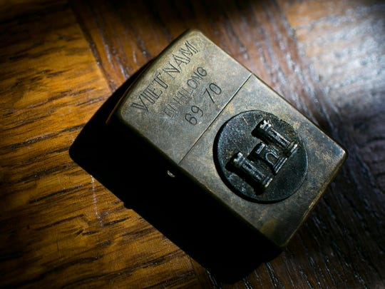 The Zippo lighter that Linda Gayles found while traveling