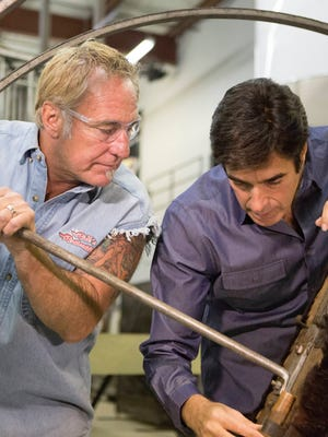 David Copperfield, right, calls on Rick Dale's team to restore two items from his magic museum collection on History's 'American Restoration.'