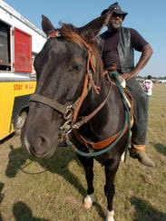 A rider at Step-N-Strut Trail Ride.