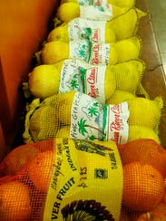 Oranges and grapefruits were bundled for sale at Policicchio