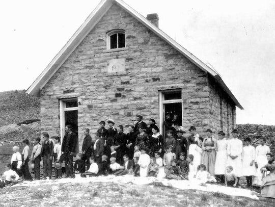 Highland School at Stout, May 25,1889.