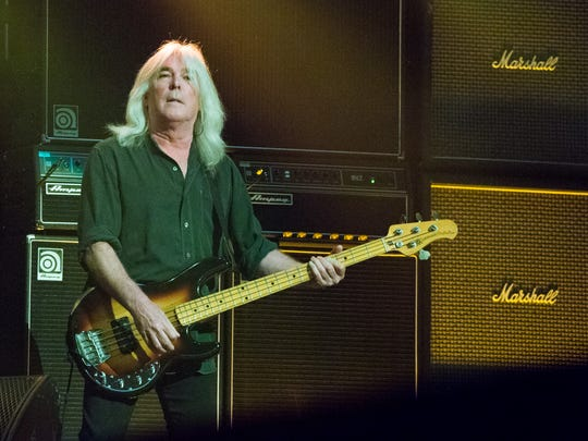 Cliff Williams of AC/DC performs at Nationwide Arena on Sept. 4, 2016, in Columbus, Ohio. Dinner at Sea Salt with Williams is one of the Naples Winter Wine Festival online lots.