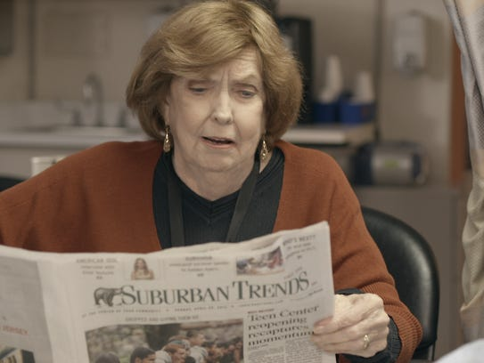 """A screenshot from the film """"Simpler Times"""" features Anne Meara. Primarily filmed in Pompton Lakes and West Milford, the short film starring Jerry Stiller makes its television premiere on Dec. 24, 2017."""