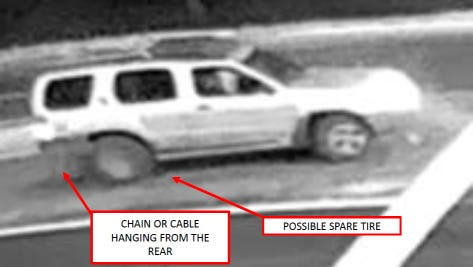 Corpus Christi Police Department are looking for a vehicle described as a silver or gray Nissan X-Terra.