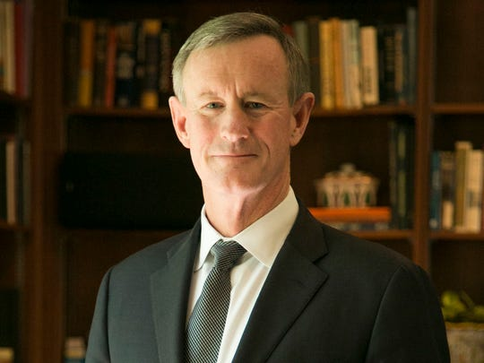 Admiral William McRaven, chancellor of the University