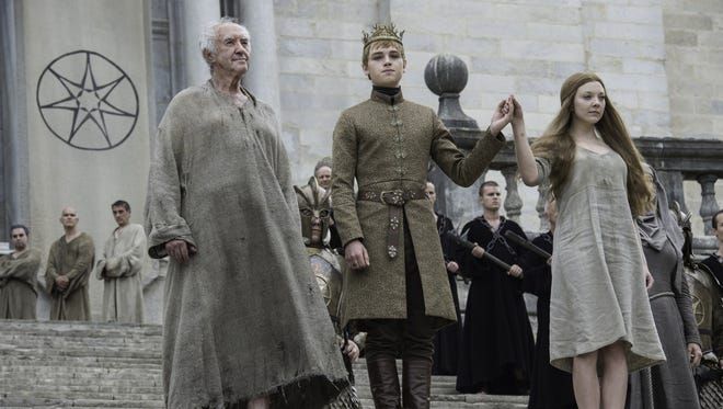 """The High Sparrow, King Tommen and Margaery Tyrell have come to an agreement and not to blows on HBO's Season 6, Episode 6 of """"Game of Thrones."""""""