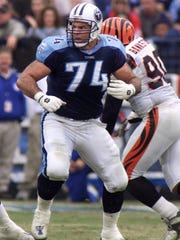 Hall of Fame offensive lineman Bruce Matthews here with the Titans in 2010.