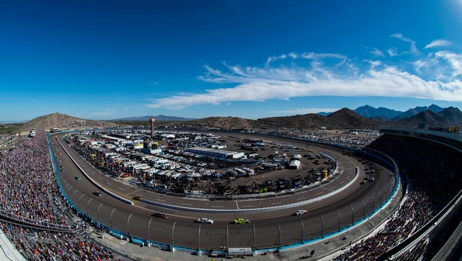 Nov 13, 2016; Avondale, AZ, USA; A view of the track during the Can-Am 500 at Phoenix International Raceway. Mandatory Credit: Jerome Miron-USA TODAY Sports